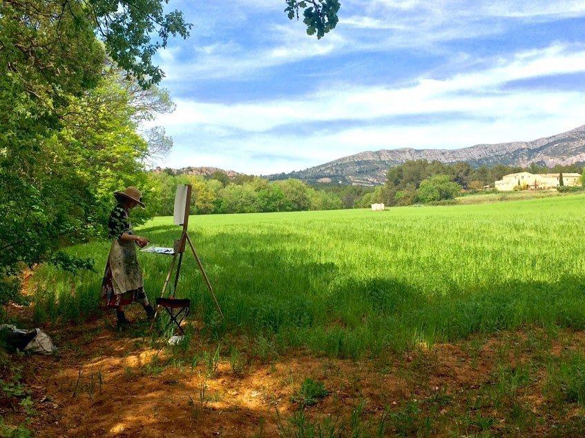 Miranda Paints In Provence
